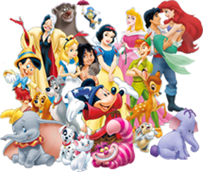 disney characters in french